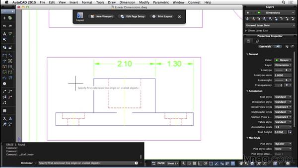 Linear dimensions: AutoCAD for Mac 2015 Essential Training