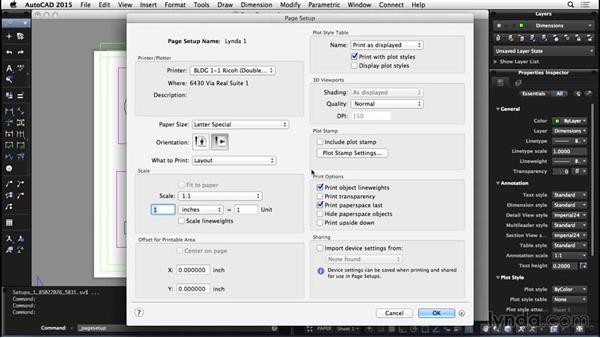 Page setups: AutoCAD for Mac 2015 Essential Training
