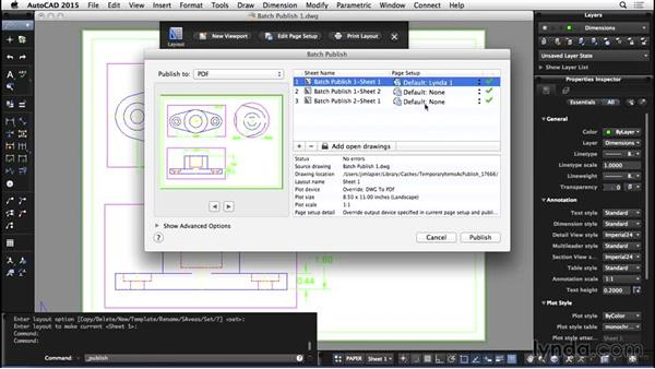 Batch publishing: AutoCAD for Mac 2015 Essential Training