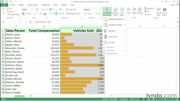 Creating dynamic charts with in-cell conditional formatting: Excel Tips Weekly