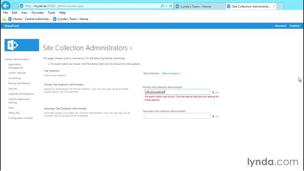 Changing administrators: SharePoint 2013 Site and Collection Administration