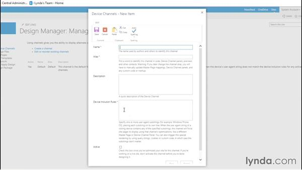 Branding your site with Design Manager: SharePoint 2013 Site and Collection Administration