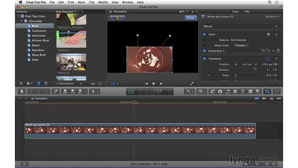 Changing keyframe interpolations in FCP X: Video Post Tips Weekly