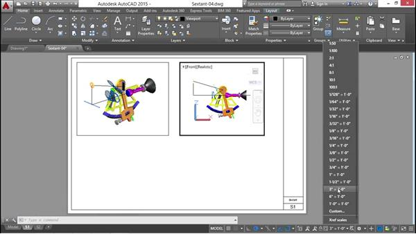 Configuring viewports for the document model: Documenting AutoCAD 3D Models