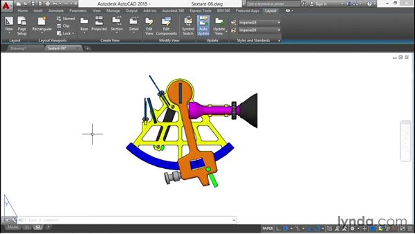 Creating a base drawing projection from the model: Documenting AutoCAD 3D Models