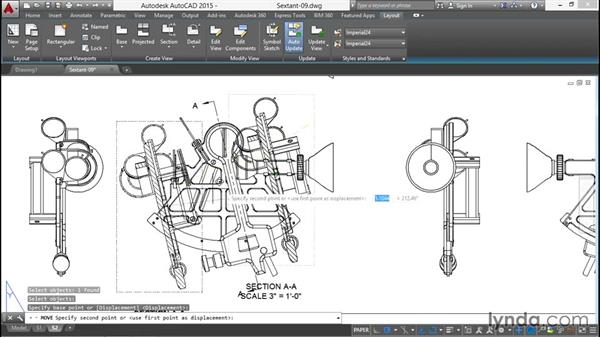 Cutting a cross-sectional view through the model: Documenting AutoCAD 3D Models