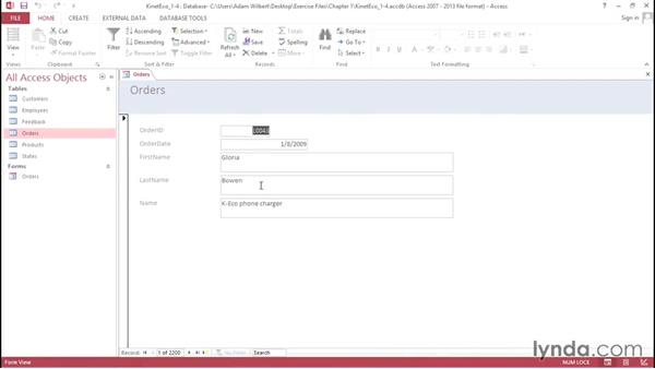 Creating a form with the Form Wizard: Access 2013: Forms and Reports in Depth