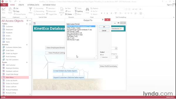 Automating the workflow with macros: Access 2013: Forms and Reports in Depth
