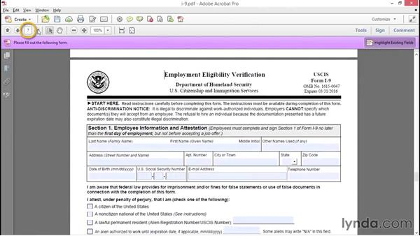 Preparing the scanned template: Access 2013: Forms and Reports in Depth