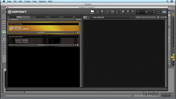 Navigating the browser: Up and Running with KONTAKT 5