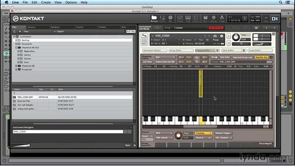 Using the Group, Wave, and Mapping editors: Up and Running with KONTAKT 5