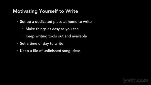 Motivating yourself to write: Write, Think, and Act Like a Professional Songwriter