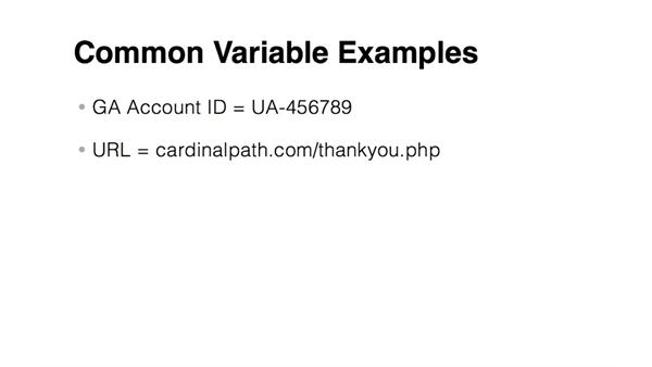 Understanding basic variables: Google Tag Manager (V2) Essential Training