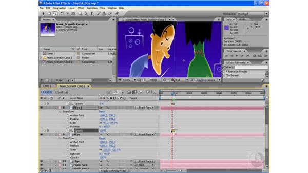 Animating blinks using Opacity: After Effects CS3: Animating Characters