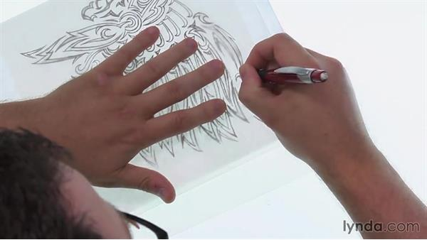 Determining the profiles of additional feathers: Artist at Work: Native American Tribal Illustration