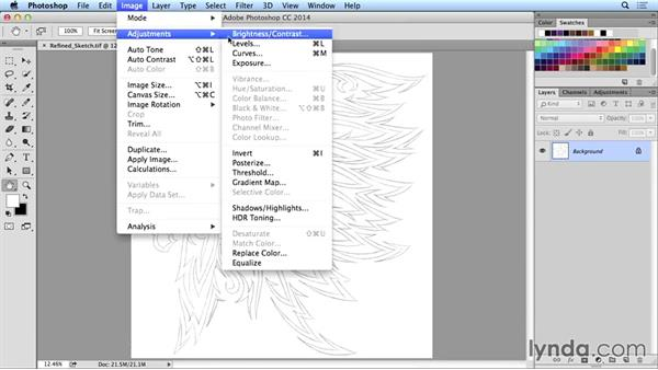Importing your sketch: Artist at Work: Native American Tribal Illustration