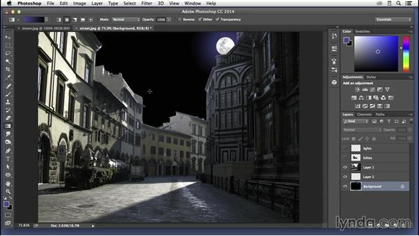 Turning a daytime scene into night: Pixel Playground
