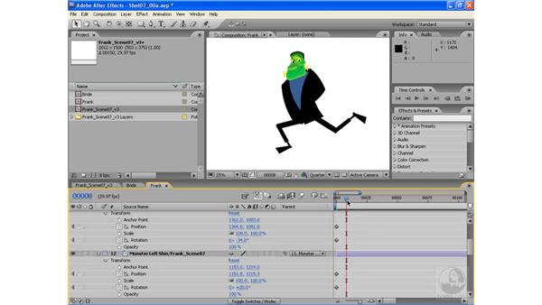 Animating a run cycle pt. 1: Basic leg motion: After Effects CS3: Animating Characters