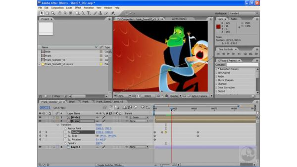 Putting the girl in his arms: After Effects CS3: Animating Characters