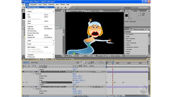 Animating a screaming girl pt. 1: The arms: After Effects CS3: Animating Characters