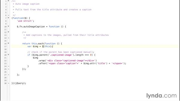 Converting the code into a plugin: jQuery: Creating Plugins