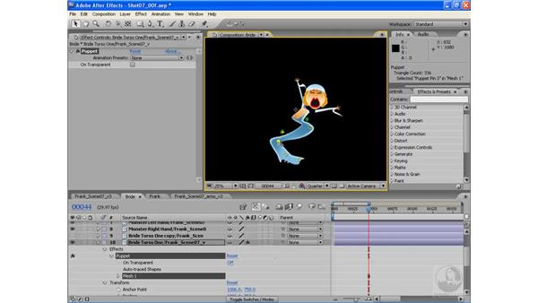 The basics of the Puppet tool: After Effects CS3: Animating Characters