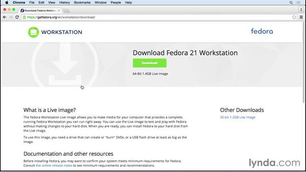 Downloading Fedora: Up and Running with Fedora Linux