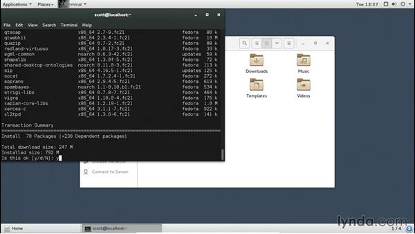 Using a different desktop environment: Up and Running with Fedora Linux