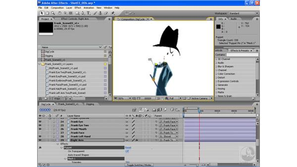 Dig cycles pt. 3: Arms and body: After Effects CS3: Animating Characters