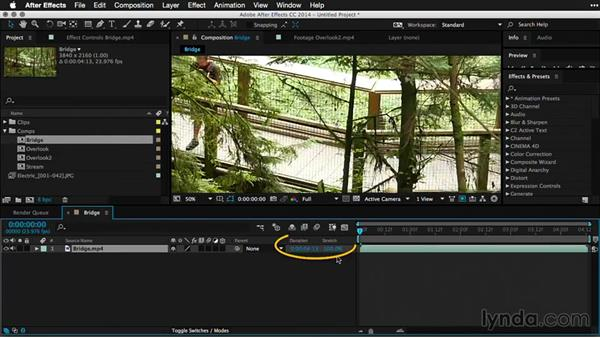 Adjusting frames rates and retiming clips in After Effects: Pictures that Move: Creating Cinemagraphs with Photoshop, After Effects, Flixel, and Cliplets