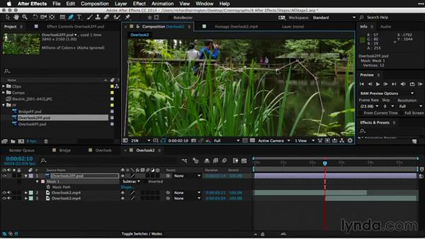 Creating and refining masks in After Effects: Part one: Pictures that Move: Creating Cinemagraphs with Photoshop, After Effects, Flixel, and Cliplets