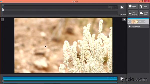 Importing time-lapse files into Cliplets: Pictures that Move: Creating Cinemagraphs with Photoshop, After Effects, Flixel, and Cliplets