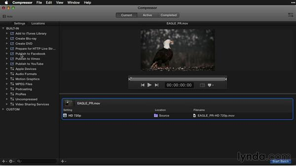 Recompressing video with Apple Compressor: Pictures that Move: Creating Cinemagraphs with Photoshop, After Effects, Flixel, and Cliplets