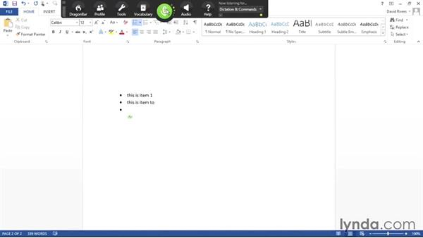 Working with text in Word: Dragon NaturallySpeaking Essential Training