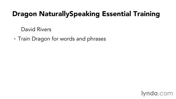 Next steps: Dragon NaturallySpeaking Essential Training