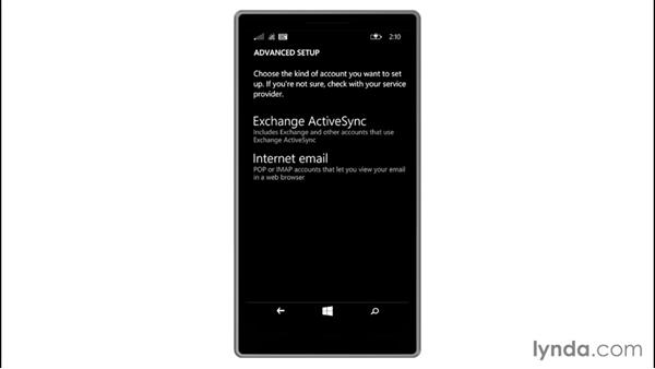 Adding a POP/IMAP account: Up and Running with Windows 8.1 Phones