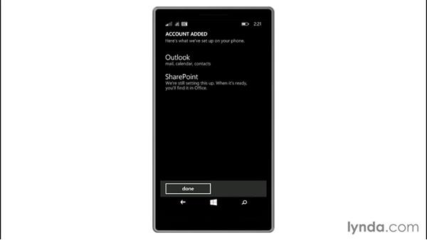 Adding an Exchange account: Up and Running with Windows 8.1 Phones