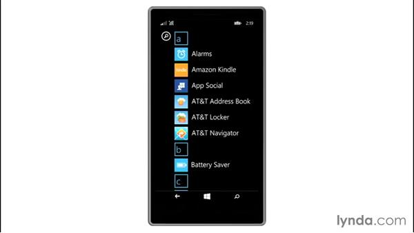 Adjusting apps on the Start screen: Up and Running with Windows 8.1 Phones