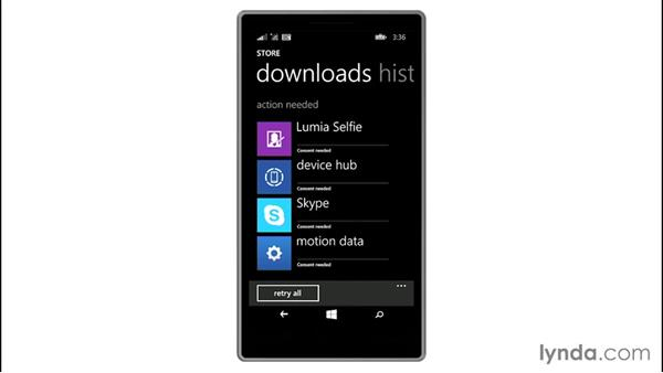 Checking for app updates and reinstalling apps: Up and Running with Windows 8.1 Phones