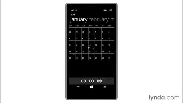Calendar views: Up and Running with Windows 8.1 Phones