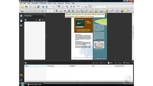 Customizing the toolbars: Acrobat 9 Pro Essential Training