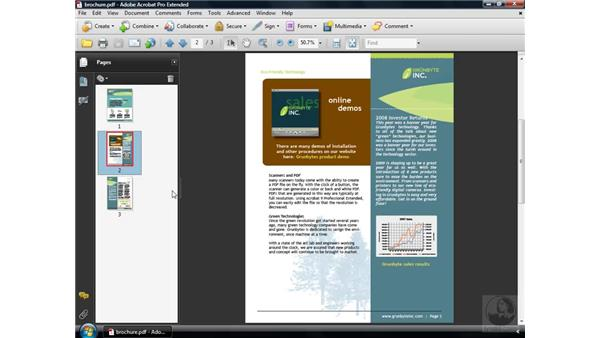 Working with the navigation panels: Acrobat 9 Pro Essential Training