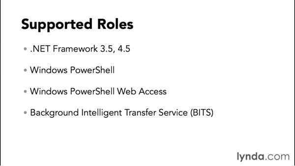 Supported roles and features: Up and Running with Server Core for Windows Server 2012 R2