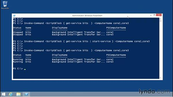 Working with fan-out remoting: Up and Running with Server Core for Windows Server 2012 R2