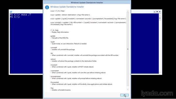 Installing updates manually: Up and Running with Server Core for Windows Server 2012 R2