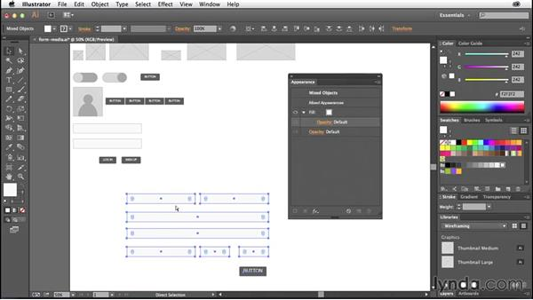 Building form and media elements: Illustrator CC for Web Design: Wireframing