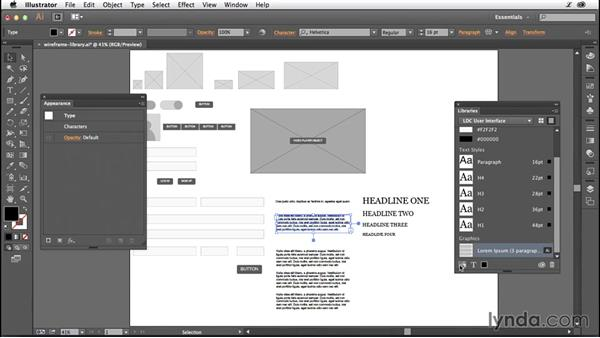 Building a wireframe library: Illustrator CC for Web Design: Wireframing