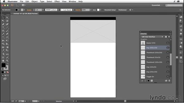 Laying out your UI placeholders: Illustrator CC for Web Design: Wireframing