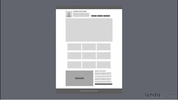 Challenge: Assemble your wireframe: Illustrator CC for Web Design: Wireframing