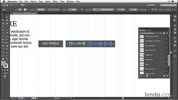Solution: Assemble your wireframe: Illustrator CC for Web Design: Wireframing